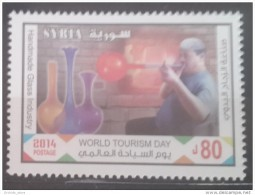 SYRIA 2014 SG 2459 MNH Stamp- World Tourism Day - Handmade Glass Industry - Handcraft Cv 14$ - Syria
