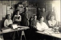 Photo Cp Güstrow In Mecklenburg Vorpommern, Kriegsgefangenenlager, Sekretärinnen, Büro - Deutschland