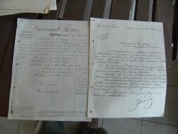 Lot 2 Capendu Garraud Vin      Facture - 1900 – 1949