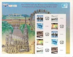 2008 UNO WIEN Mi 550-54 **MNH  Internationale Briefmarkenausstellung WIPA 2008, Wien - Blocs-feuillets