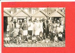 80 CAYEUX Sur MER CARTE PHOTO Animée Vacanciers Devant Les Cabines Hebuterne Ypres Sfax - Cayeux Sur Mer