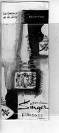 87 - LIMOGES - PORCELAINE - RARE DESSIN ORIGINAL A L' ENCRE NOIRE- LAMPE SINGER-SERIE TRIANON -PORCELAINES - - Dessins