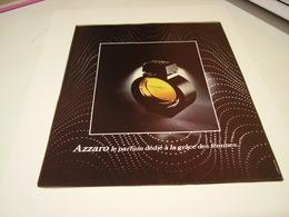 ANCIENNE AFFICHE  PUBLICITE PARFUM AZZARO A LA GRACE DES FEMMES   1978 - Perfume & Beauty