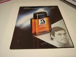 ANCIENNE AFFICHE  PUBLICITE PARFUM AZZARO POUR HOMME   1978 - Unclassified