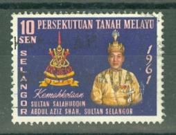 Malaya - Selangor: 1961   Coronation Of The Sultan    Used - Selangor