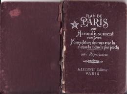 Cvb Plan Paris 1958 10x15 Cm. Plan Des  Arrondissements. Cinémas, Hopiteaux, Police, Stades, Vélodromes. (KC6-13) - Cartes/Atlas