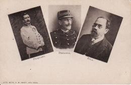 Cvb 6. Dreyfus Affair,  Picquart, Dreyfus, Zola (1899)  (pli Miniscule, Presque Invisible Au Recto) - Jodendom