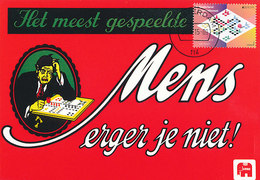 "D34439 CARTE MAXIMUM CARD FD 2015 NETHERLANDS - BOARD GAME ""MENS ERGER JE NIET"" CP ORIGINAL - Spiele"