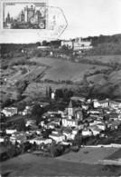 63-RAVEL-VUE GENERALE AERIENNE SUR LE VILLAGE ET CHATEAU - Autres Communes