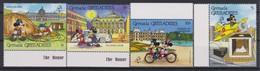 2287  WALT DISNEY   GRENADA GRENADINES ( Philex France '89 Paris ) Characters And Monuments Of Paris . - Disney