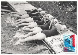 D34442 CARTE MAXIMUM CARD FD 2013 NETHERLANDS - WOMEN SWIMMING CAP CP ORIGINAL - Swimming