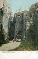 004018  Adersbacher Felsen - Eingang In Die Felsenstadt - Böhmen Und Mähren