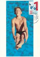 D34443 CARTE MAXIMUM CARD FD 2013 NETHERLANDS - DIVING SWIMMING CP ORIGINAL - Swimming