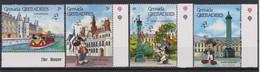 2288  WALT DISNEY   GRENADA GRENADINES ( Philex France '89 Paris ) Characters And Monuments Of Paris . - Disney