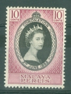 Malaya - Perlis: 1953   Coronation    MH - Perlis