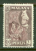 Malaya - Perlis: 1957/62   Raja Syed Putra - Pictorial  SG35   10c   Deep Maroon   MH - Perlis