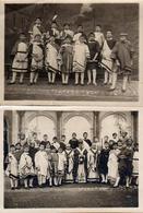 2 Photos Originales Troupe Théâtrale De Gamins, Adolescents, Romains, Evêque, Jules César & Co. Vers 1920/30 - Personnes Anonymes