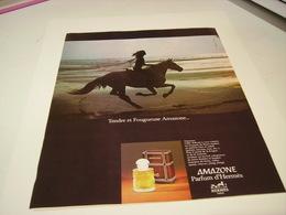 ANCIENNE AFFICHE  PUBLICITE PARFUM AMAZONE DE HERMES 1978 - Parfums & Beauté