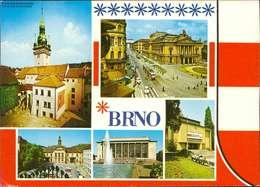 1134067  Brno , Nadvofi Stare Radnice -Mahenovo Divadio Mehrbildkarte - República Checa