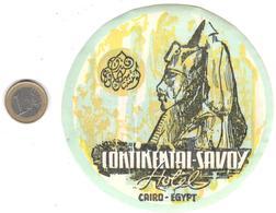 ETIQUETA DE HOTEL  - HOTEL CONTINENTAL SAVOY  -EL CAIRO -EGYPTO - Hotel Labels