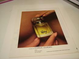 ANCIENNE AFFICHE  PUBLICITE PARFUM VOTRE DE CHARLE JOURDAN 1978 - Perfume & Beauty