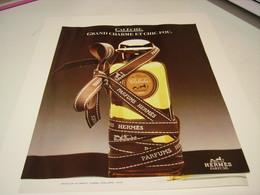 ANCIENNE AFFICHE  PUBLICITE PARFUM CALECHE DE HERMES 1987 - Parfums & Beauté