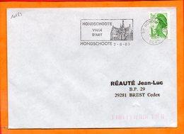 NORD, Hondschoote, Flamme SCOTEM N° 10183, Ville D'art - Oblitérations Mécaniques (flammes)