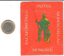 ETIQUETA DE HOTEL  - HOTEL BALATONFÜRED  -HUNGRIA - Etiquetas De Hotel