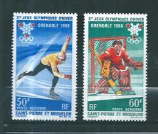 PA De St Pierre Et Miquelon  De 1968  N°40 Et 41 Neuf ** - Airmail