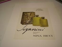 ANCIENNE PUBLICITE PARFUM SIGNORICCI  NINA RICCI 1966 - Other