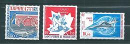 PA De St Pierre Et Miquelon De 1975/76  N°60 A 62 Neufs ** Cote 76€20 - Airmail