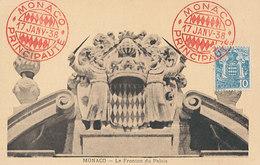 D34452 CARTE MAXIMUM CARD 1938 MONACO - COAT OF ARMS MONACO GRIMALDI CP ORIGINAL - Coat Of Arms