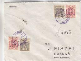 Pologne - Lettre De 1919 - Oblit Warsawa - Exp Vers Poznan - Valeur Cat Fischer = 45 Euros - Covers & Documents