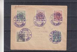 Pologne - Lettre De 1919 - Oblit Warsawa - Exp Vers Rosenberg - Valeur Cat Fischer = 40 Euros - Covers & Documents