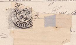 """Carte Postale Envoyée Sous Bande Avec Tarif """"Imprimé"""" à 1 Centimes (3 Mots Et Initiales Côté Vue) Date Illisible - Marcophilie (Lettres)"""
