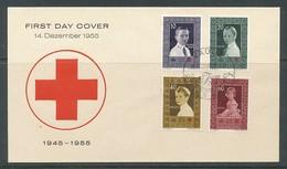 LIECHTENSTEIN Mi.Nr. 338-341 10 Jahre Liechtensteinisches Rotes Kreuz - FDC - FDC
