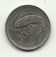 1986 - Malta 10 Cents, - Malta