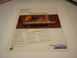 ANCIENNE PUBLICITE VOITURE FIAT ARGENTA 1982 - Cars