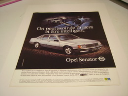 ANCIENNE PUBLICITE VOITURE  OPEL SENATOR 1982 - Cars