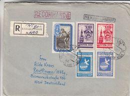 Lettonie - Russie - Lettre Recom De 1958 ° - Oblit Riga - Jeux Olympiques - Javelot - - 1923-1991 URSS