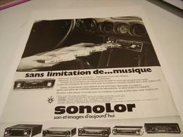 ANCIENNE AFFICHE  PUBLICITE AUTORADIO SONOLOR 1972 - Tabac (objets Liés)