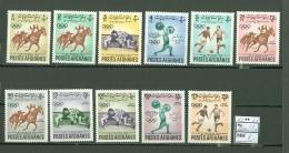 Afghanistan A13 MNH 1962 11v Olympic Sports Riding Fight Soccer CV 7 Eur - Afghanistan