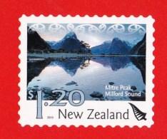 New Zealand 2010 Landscapes - Mitre Peak, Milford Sound $12 Mint Self-adhesive Booklet - Booklets