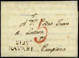 2 D.P. 6 -NAVARRA.1827. Elizondo (PE.7) Carta Cda A Palona - Spain