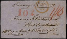 16 1854. Cda De Londres A Sta. Cruz Tenerife - Spain