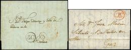 17 Conjunto De 2 Cartas Cdas, Correo Interior En Canarias Con 2 Porteos - Spain