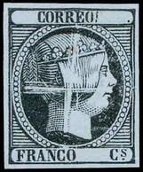 36 Ed. PRUEBA De Punzón Limado - 1850-68 Kingdom: Isabella II