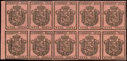 51 Ed. *** 29 Bl. 10 Borde Hoja. Lujo - 1850-68 Kingdom: Isabella II