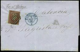 56 Ed. 40 1855. Cda Correo Marítimo De Barcelona A Valencia - 1850-68 Kingdom: Isabella II