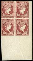 66 Ed. *** 48C Bl.4Borde Hoja. Lujo. Raro. - 1850-68 Kingdom: Isabella II